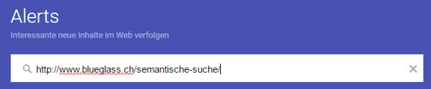 Alert URL Google Beispiel