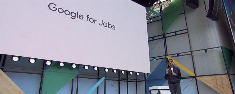 Google CEO Sundar Pichai über Google for Jobs