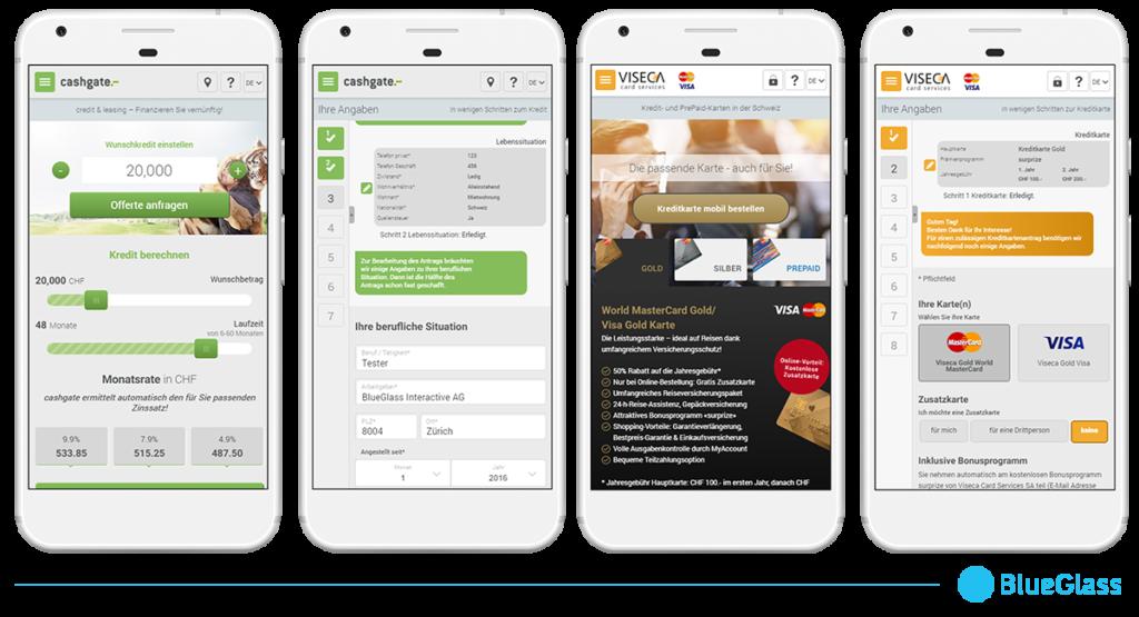 Mobile Experience der Anwendung für die Aduno Gruppe