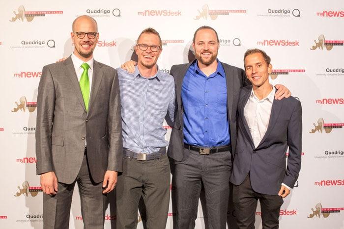 Von links Raphael Bienz, Michel Romang, Morris Feierabend, Oliver Lutz