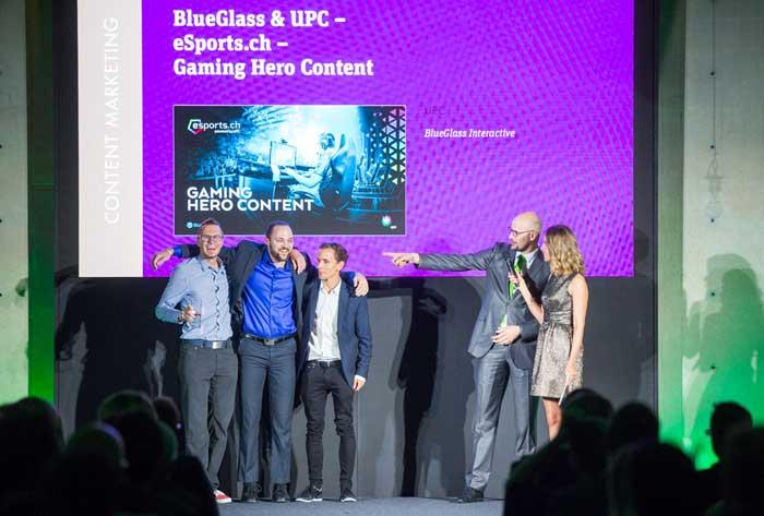 Siegerehrung am DCA17 für Michel Romang, Morris Feierabend, Oliver Lutz, Raphael Bienz