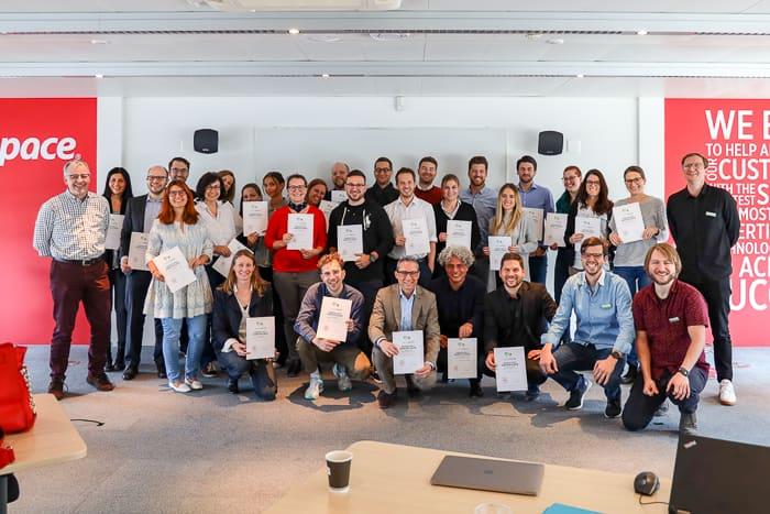 Teilnehmer der Searchmetrics-Zertifizierung am Meet'n'Suite 2019 in Zürich