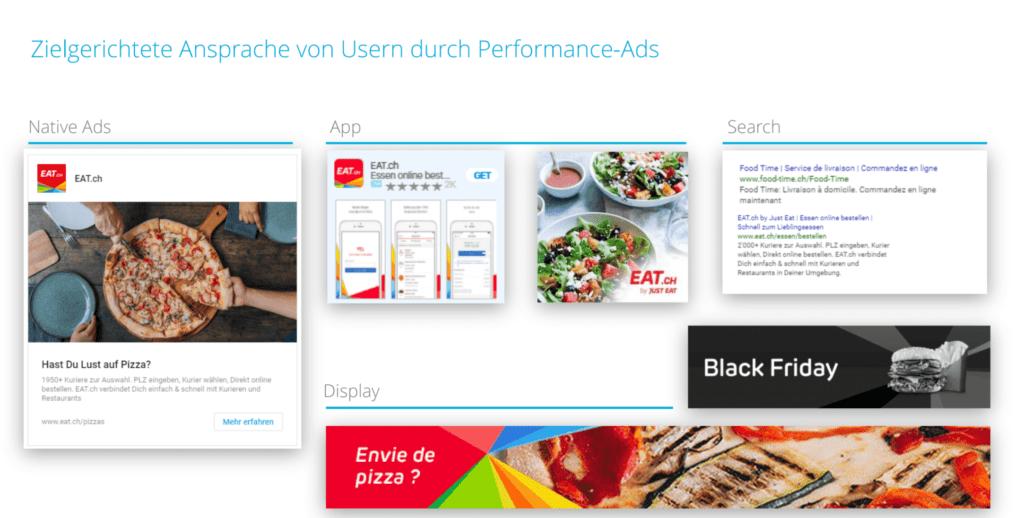 BlueGlass-Kampagne für EAT.ch: Zielgerichtete Ansprache von Usern durch Performance-Ads