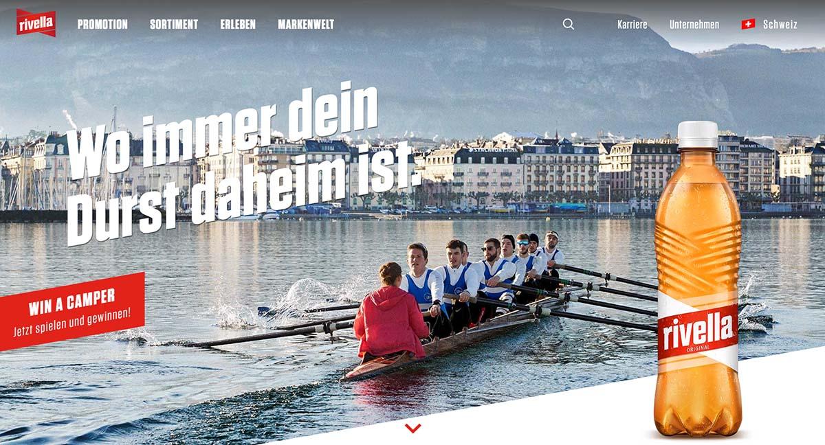 Rivellas Corporate Webseite nach dem Relaunch durch BlueGlass Interactive